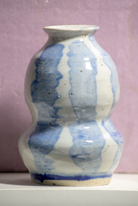 Blue and White Collared Vase