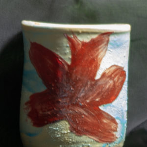 Lake Clay mix cup, red interior