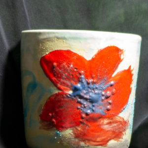 Lake Clay mix cup, white interior