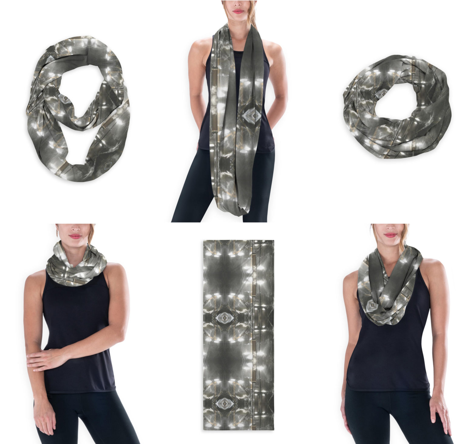 Fountain Lights Infinity Scarf