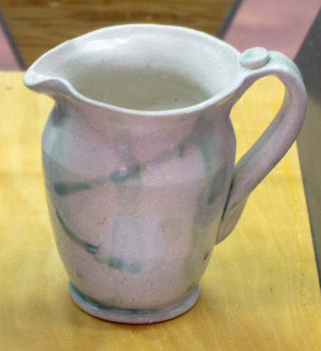 Small Pitcher with Button-top Handle
