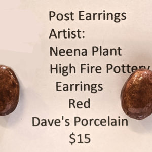 Red Post Earrings