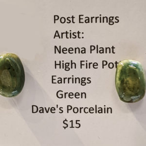 Green Post Earrings