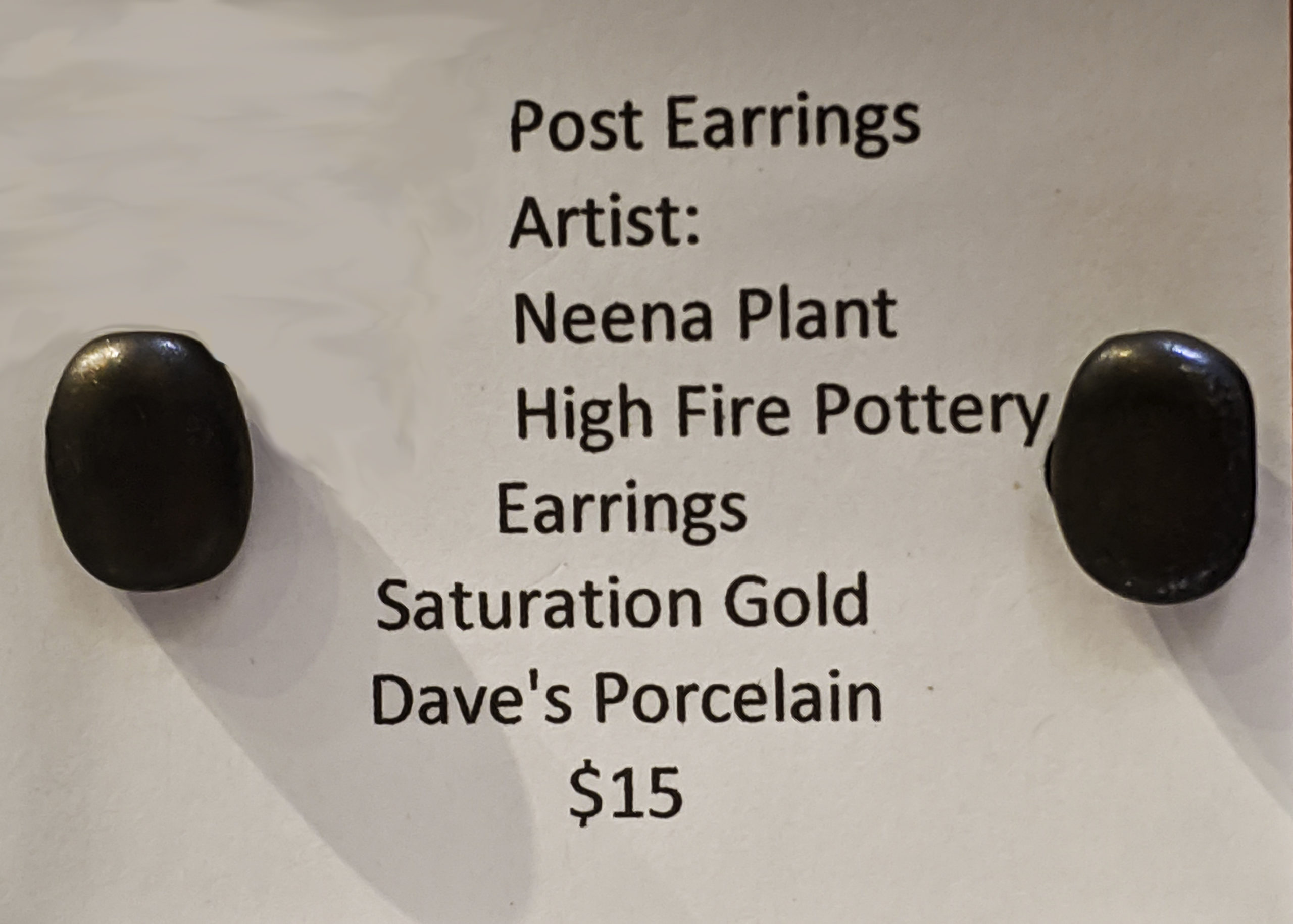 Golden Post Earrings