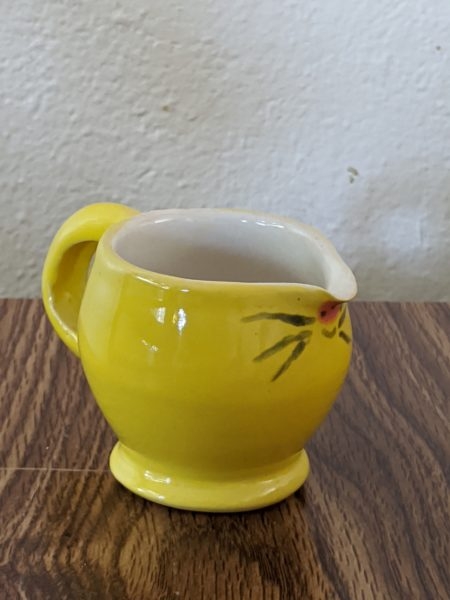Yellow Mouse Cream Pitcher