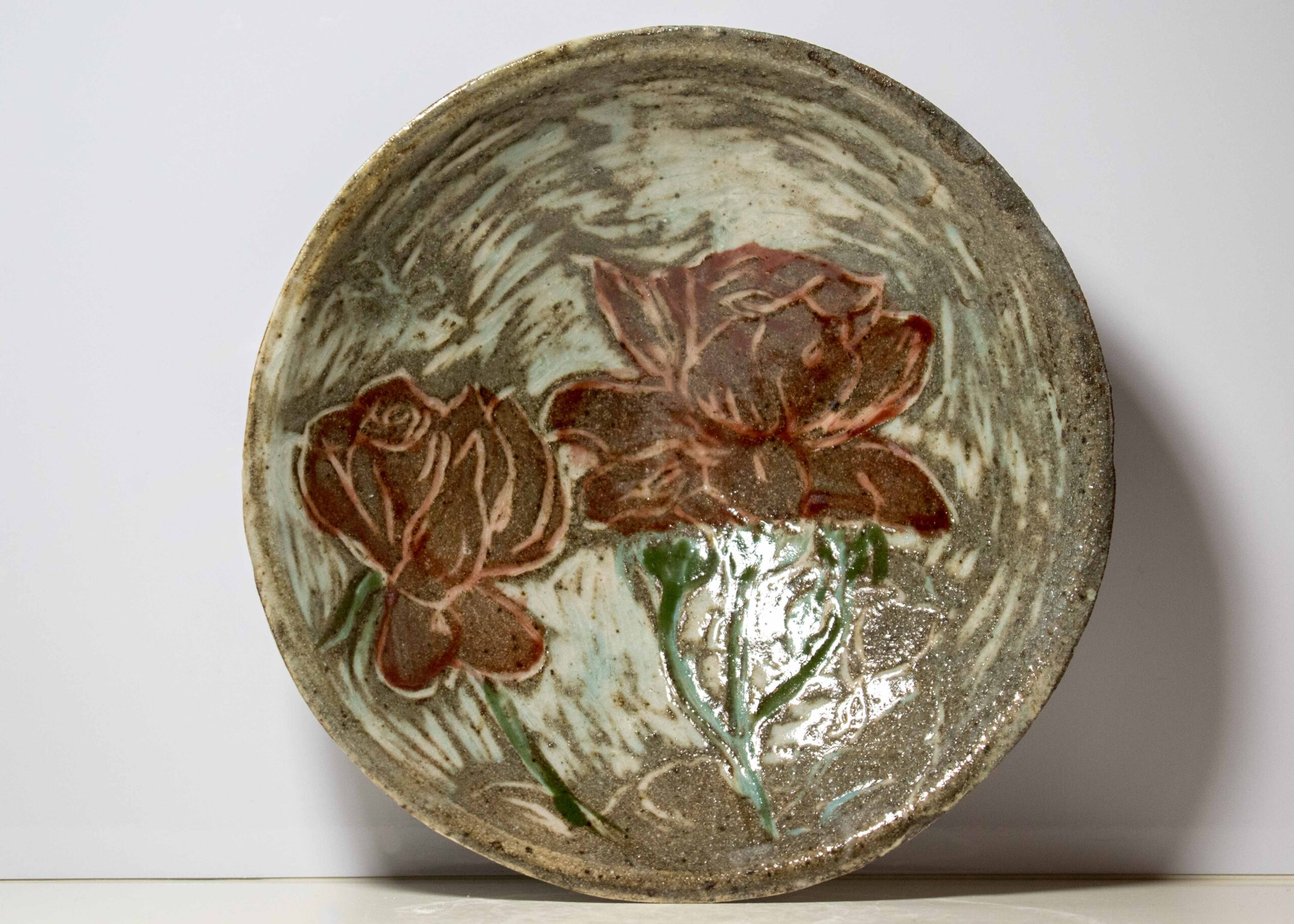 Rose Relief Flat Bowl