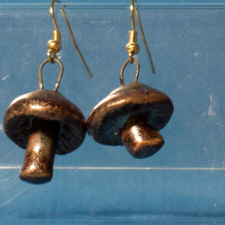Antique Copper Mushroom Earrings