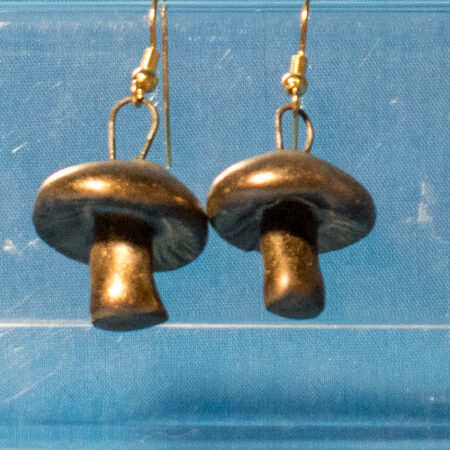 Antique Brass Mushroom Earrings
