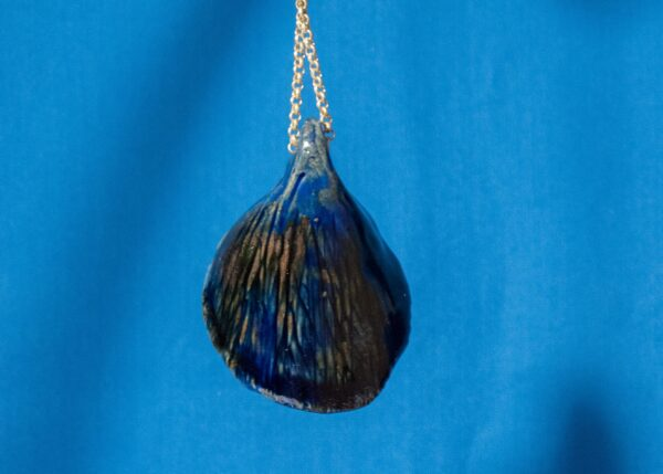 Blue and White Shell Pendant