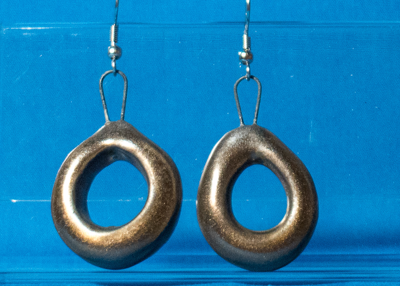 Antique Brass Loop Earrings