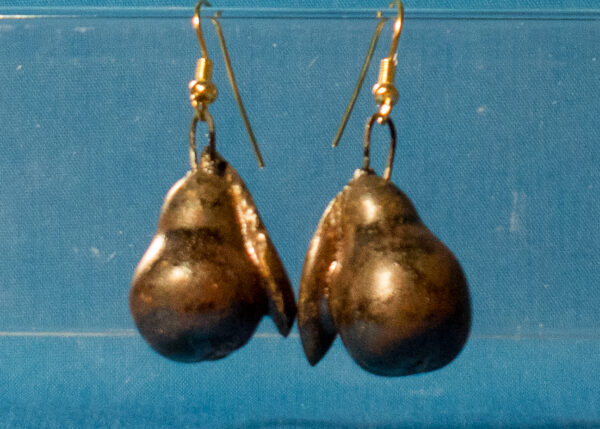 Antique Copper Pear Earrings
