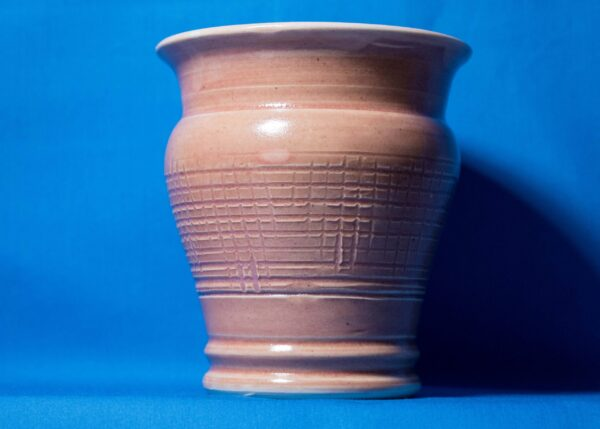 Pink Check-lined Vase