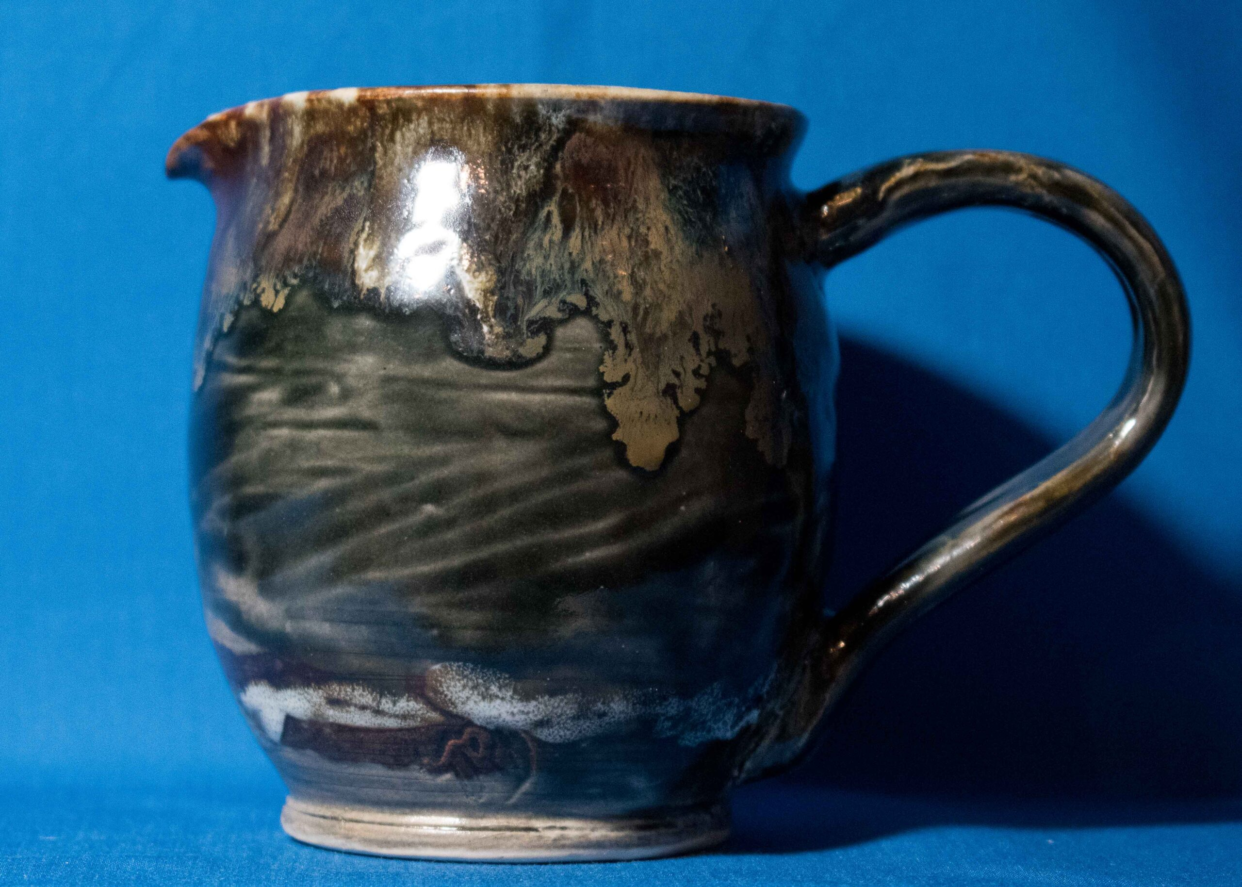 Rustic Patterned Pitcher