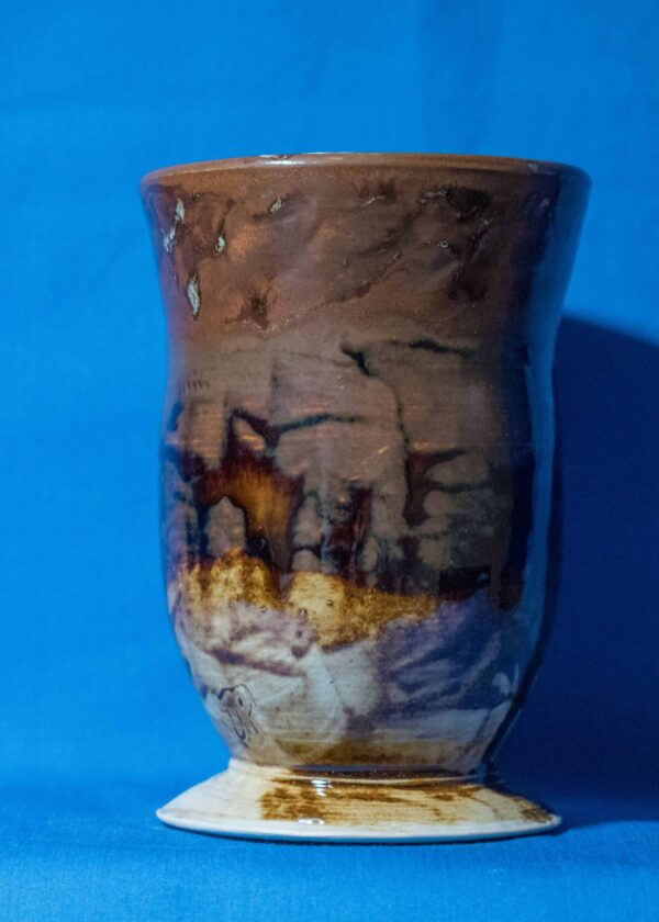 Rusty Footed Vase