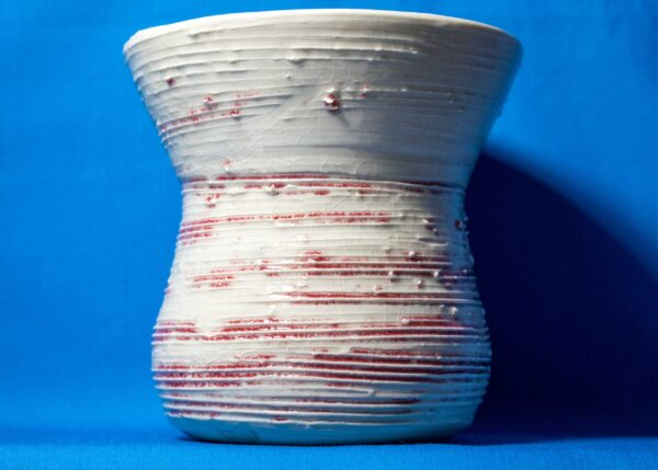Vase with Red Lines