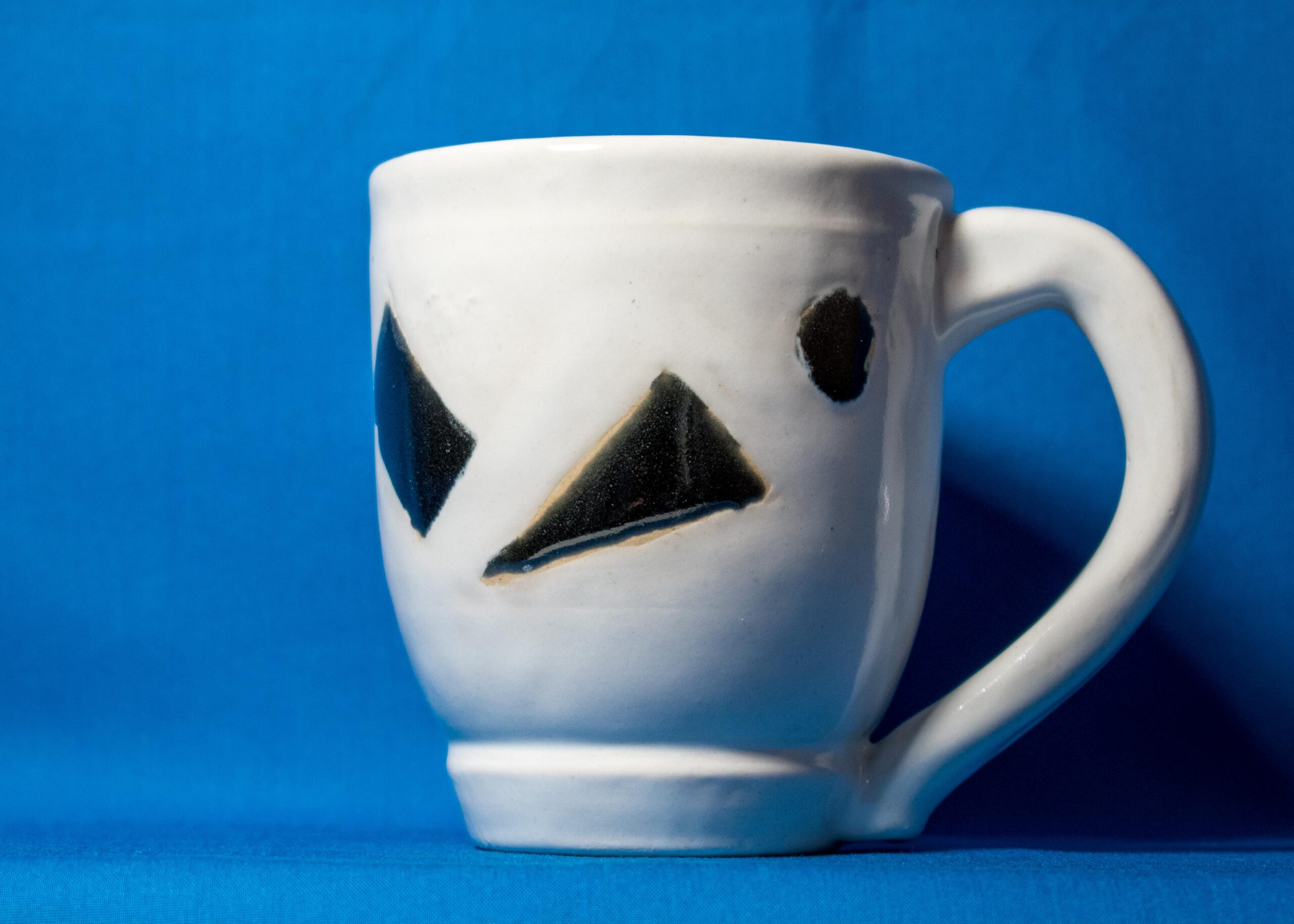 White with Black Mug