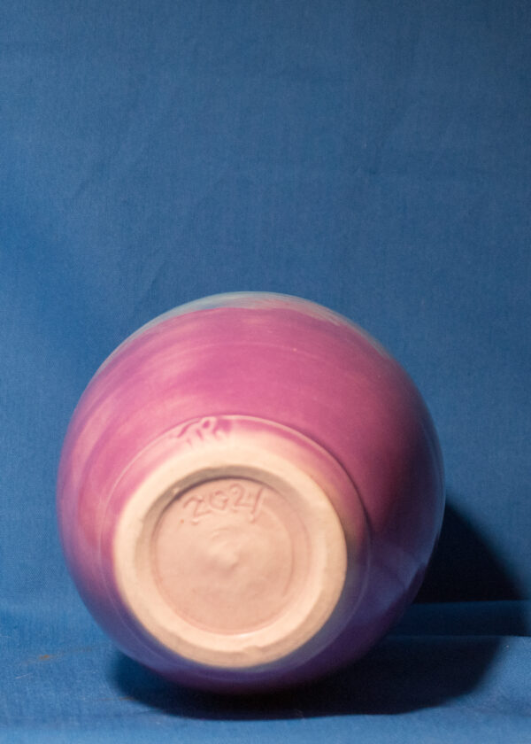 Blue and Purple Thin-topped Bottle bottom view