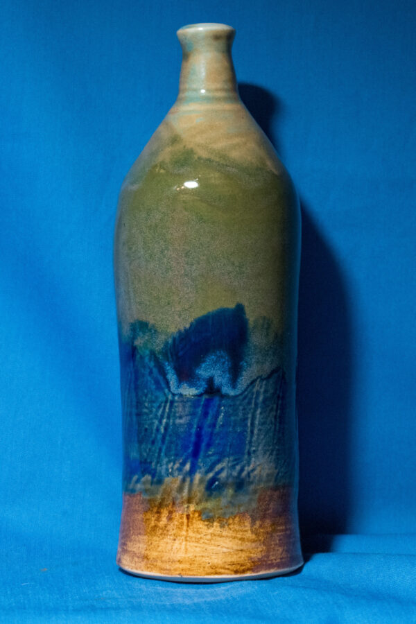 Green, Blue, and Tan Bottle alt view